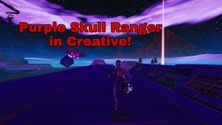 How to get PURPLE SKULL RANGER in Fortnite Creative! / Lila Skull Ranger in Fortnite