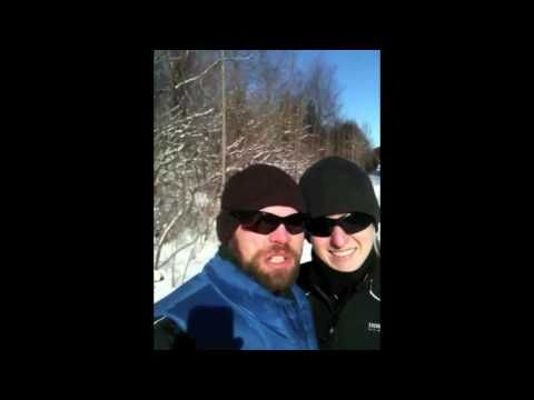 Winter Workout Snowshoe Running