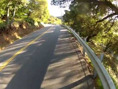 Shadow Cyclist: Evening Climb Up Page Mill Road, Palo Alto