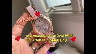 Review Michael Kors rose gold mini blair watch MK6175