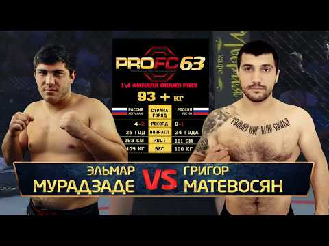 ProFC 63: Григор Матевосян Vs. Эльмар Мурадзаде