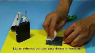 Motor eléctrico sencillo. Experimentos (Divertiaula)