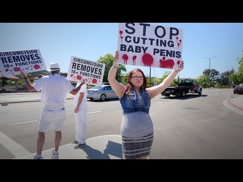 Bloodstained Men Protest Hot and Sweaty at Walnut Creek