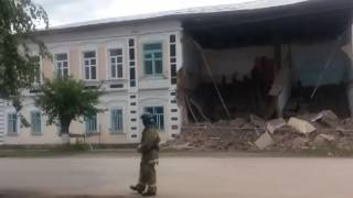 Обрушение бывшего здания медицинского колледжа в Ишиме