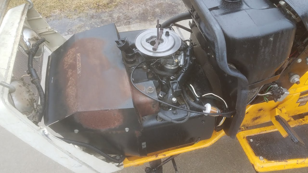 bringing the cub cadet 1811 back to life - first start & run w/ new  carburetor
