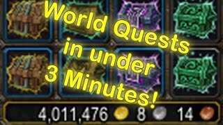 WoW Legion World Quest Addon - How to Complete World Quests in under 3 minutes! [WoW Legion Addon]