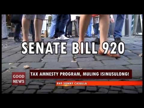 GOOD NEWS:  TAX AMNESTY PROGRAM, MULING ISINUSULONG!