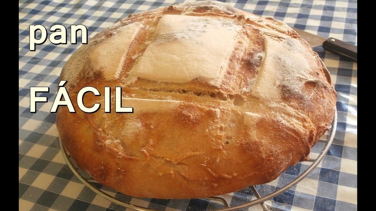 Hogaza de pan casero facil y rapido recetas de cocina Como hacer comida facil y rapida en casa