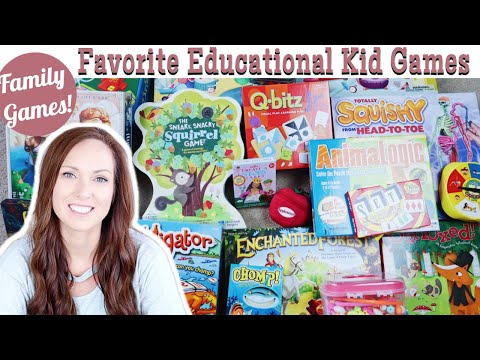 TOP BOARD & CARD GAMES FOR KIDS | LEARNING / EDUCATIONAL GAMES | FAMILY GAMES | HOMESCHOOL GAMES 3-8