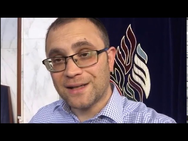 Video Message from Rabbi Knopf - August 27, 2020