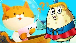 Симулятор котенка #5 Кого поймал ПОДВОДНЫЙ КОТЕНОК на этот раз? веселый летсплей #ФГТВ