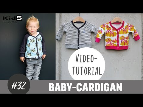 Einen Baby Cardigan ganz einfach selber nähen DIY-Näh-Tutorial