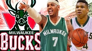 CARMELO ANTHONY TO THE MILWAUKEE BUCKS?A NEW SUPER TEAM TO DEFEAT LEBRON JAMES? NBA RUMOR SIMULATION