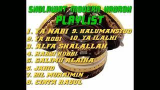 Download kumpulan lagu sholawat modern Hadroh, shalawat penyejuk hati, enak didengar saat santai