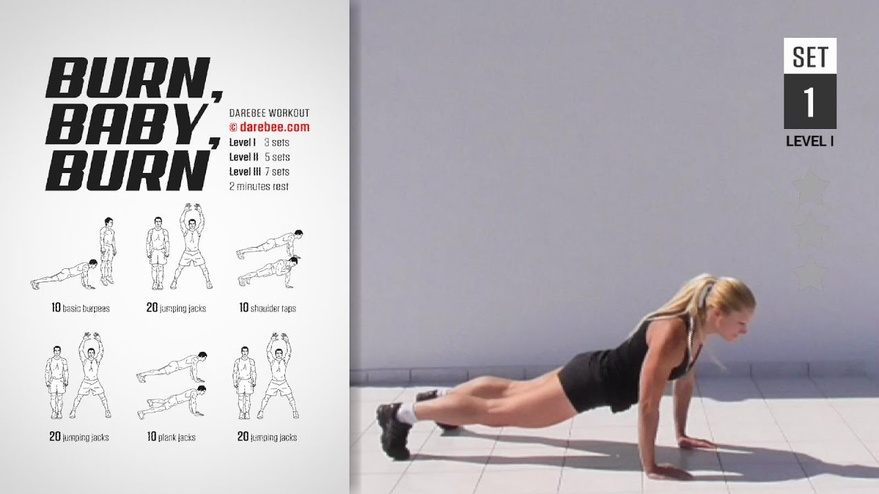 Burn Baby Burn Workout Full High Burn 25 Min