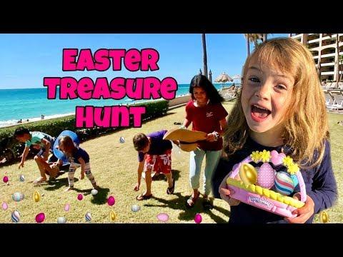 EASTER EGG TREASURE HUNT ON THE BEACH! w/Hatchimals