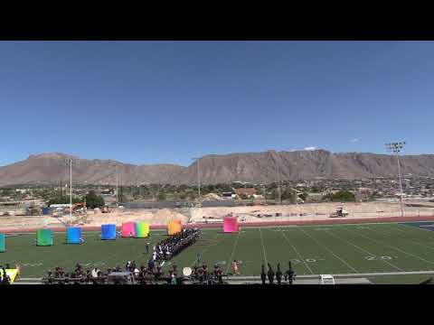 PEBBLE HILLS HIGH SCHOOL PRE T-BIRD MARCHING BAND PERFORMANCE COLOR GUARD