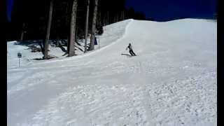 racing jump on skis