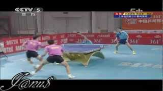 2012 China Super League: Wang Liqin / Shang Kun - Cheng Jingqi / Zhai Chao [Full Match/Short Form]