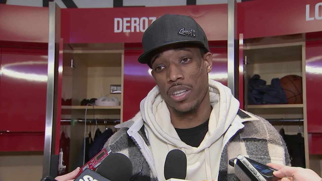 Raptors Post-Game: DeMar DeRozan - December 17, 2017 - YouTube