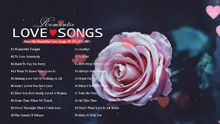 Most Old Beautiful Love Songs 80's 90's 💦 Classic Love Songs 70's 80's 90's