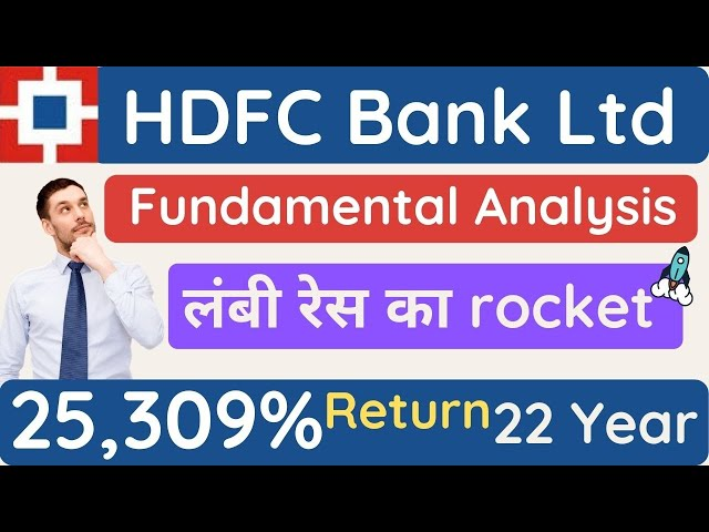 HDFC Bank stock fundamental analysis today for long time investing best Banking stock