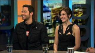 Mandy Moore and Zachary Levi interview on The 7pm Project (Australia) - Tangled