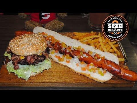 Monster Hungarian Sausage Burger Combo Food Challenge!!