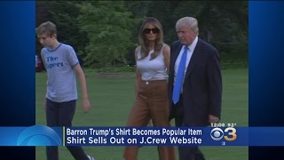 President Trump Son's Shirt Becomes Popular Item