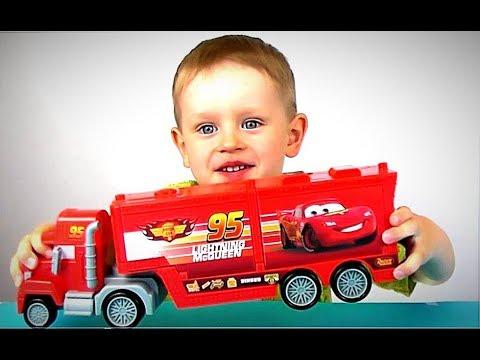 Автовоз Мак и Молния МакКуин из мультика Тачки Игрушки Машинки для Мальчиков Видео для детей ВЛОГ