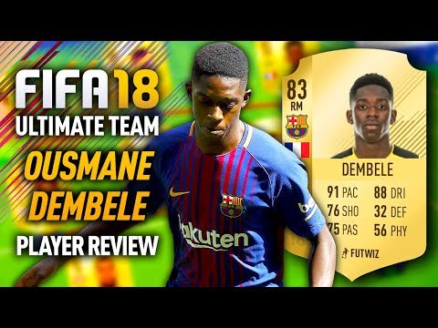 FIFA 18 OUSMANE DEMBELE (83) PLAYER REVIEW! FIFA 18 ULTIMATE TEAM!
