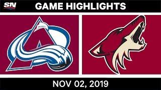 NHL Highlights   Avalanche vs Coyotes – Nov. 2, 2019