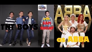 TNT BOYS AS ABBA ON YFSFK WEEK 15 with SAM SHOAF