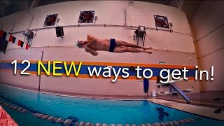12 NEW ways of getting in a swimming pool