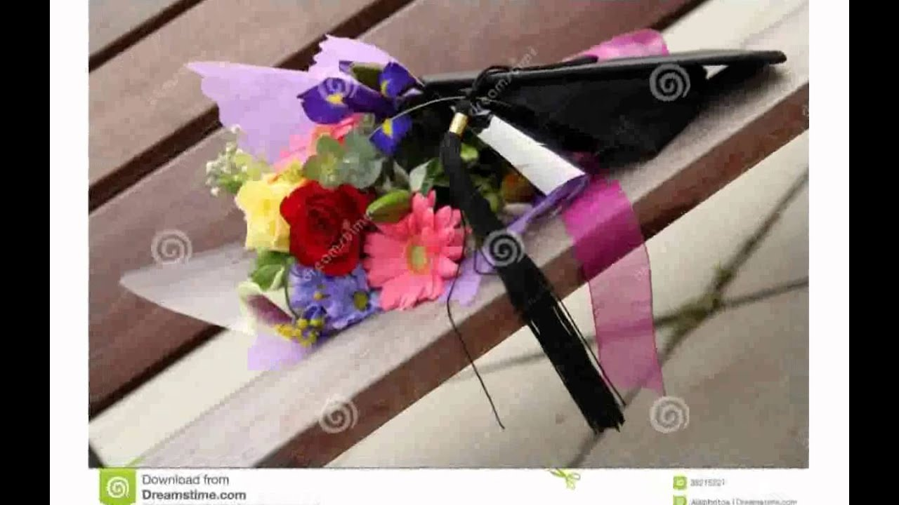 Graduation Flower Bouquet - YouTube