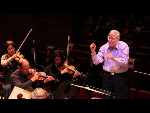 Brahms - Le Chant du destin - Herbert Blomstedt / Choeur de l'Orchestre de Paris (répétition)