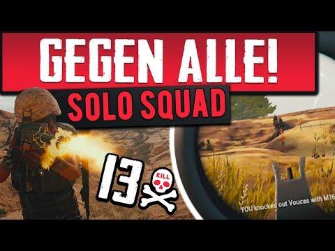 GEGEN ALLE! - Solo Squad Zerstörung in PUBG (Playerunknowns Battlegrounds)