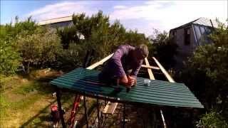 Как построить сарай совмещённый с душем(Постройка сарая совмещённого с душем ., 2015-07-12T07:53:04.000Z)