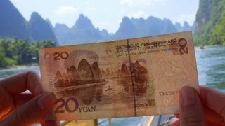 Li River Bamboo Boat Cruise down the Li River from Guilin to Yangshuo, China (Lijiang: 从桂林到阳朔漓江竹游船)