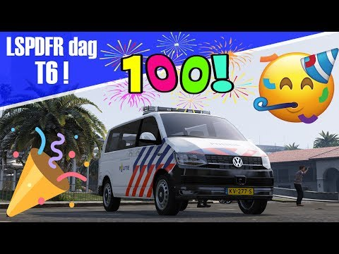 GTA 5 lspdfr dag 100! - extra lange aflevering met de T6!