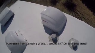 Max Air II Review RV vent covers installed by Camping World. By Mr Tims