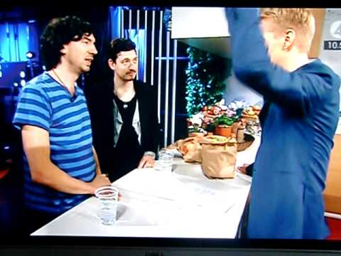 Snow Patrol interview on Swedish TV4 - 15 oct 2011