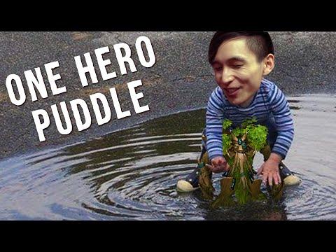 ONE HERO PUDDLE (SingSing Dota 2 Highlights #1485)