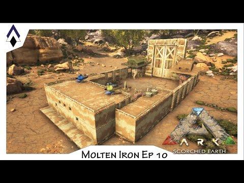 Building the Three Springs adobe base!! (ARK Molten Iron Ep 10)