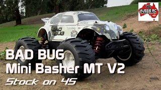 Hobby King Mini Basher MT V2 - BAD BUG - First run on 4S