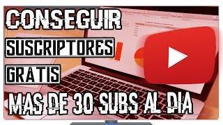 Como Conseguir mas de 60 Suscriptores al día  en Youtube gratis