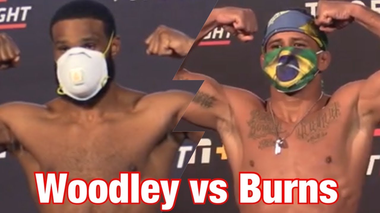 UFC on ESPN 9 Official Weigh-Ins: Tyron Woodley vs Gilbert Burns MyTub.uz