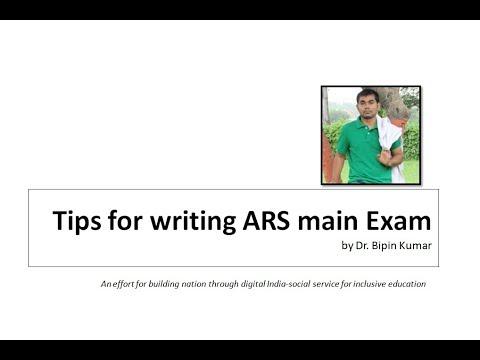 Tips for writing ARS main Exam