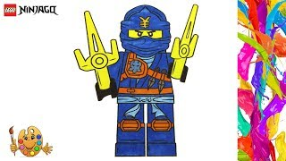LEGO NINJAGO: Jay | Coloring pages for kids | Coloring book