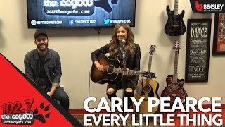 Carly Pearce stopped by 102.7 The Coyote's performance studio to pe...